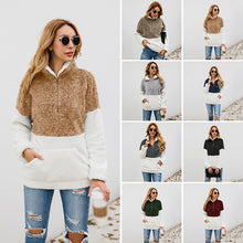 Load image into Gallery viewer, Women Casual Warm Pocket Coat Zipper Turn-over Collar Long Sleeve Pullover