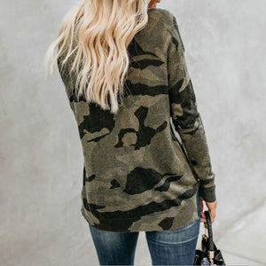 Simply Southern Round Neck Camo Fashion Long Sleeve T-Shirt