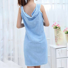 Load image into Gallery viewer, 1pc Solid Bath Towel Dress