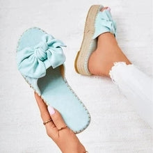 Load image into Gallery viewer, Women Bowknot Summer Slip-on Slipper