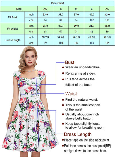 Retro Vintage Cap Sleeve Shirt Style Collar High Stretchy Party Picnic Dress