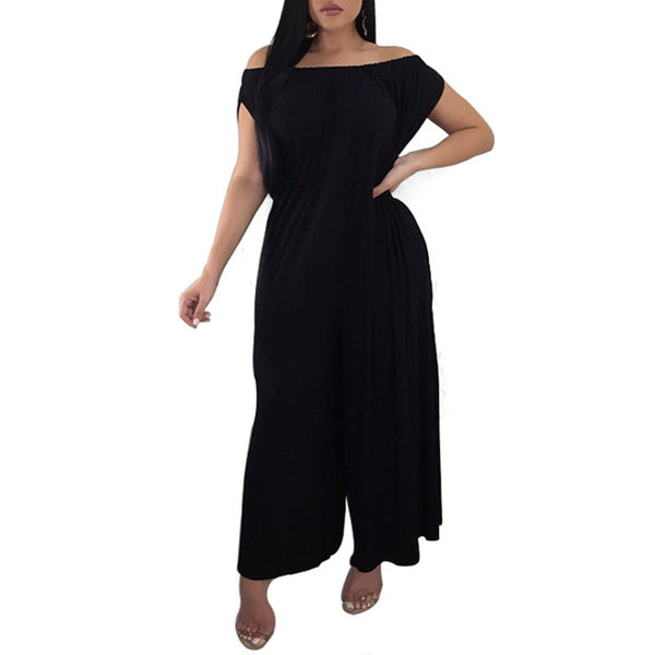 New Fashion Summer Women's Off-the-Shoulder Jumpsuit Rompers Sexy Jumpsuit