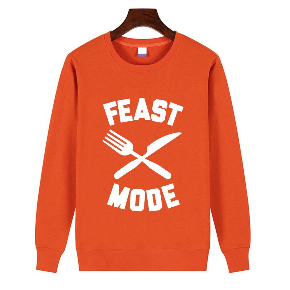 Thanksgiving Day  Pullover Feast Mode Printing TRound Neck Short Sleeve Tops