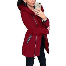 Load image into Gallery viewer, Women's Hooded Zipper Casual Coat Pocket Long Sleeve Thick Warm Overcoat