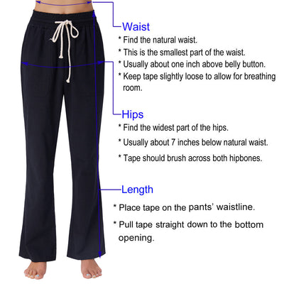 GK Women's Solid Color High Waist Buttons Front Full Length Pants Trousers