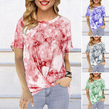 Load image into Gallery viewer, Tie Dye Print knotted Shirt