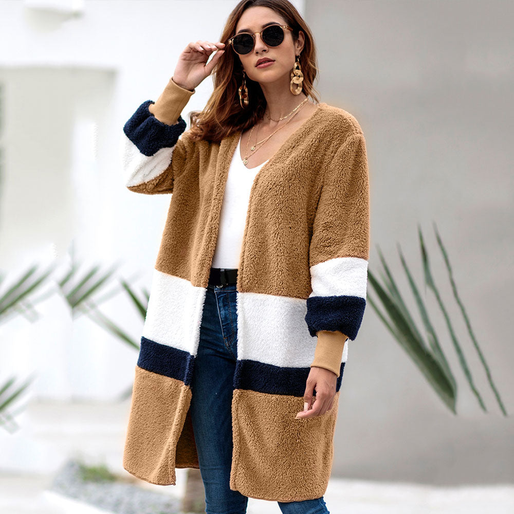 Women Coat Autumn Winter New Long Sleeve Multi Colors Warm Fashion Casual
