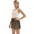 GK Women's Summer Casual Loose Fit Wide Leg Shorts Elastic Waist Short Pants