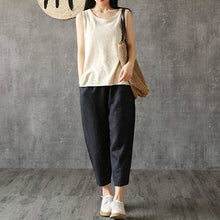 Load image into Gallery viewer, Women Casual Loose Spring Summer Harem Pants Cotton Baggy Trousers Plus Size
