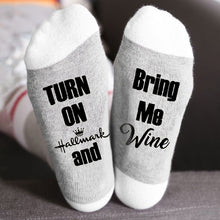 Load image into Gallery viewer, Mens Womens BRING ME WINE Letter Pattern Socks