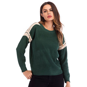Women's Casual Loose Round Neck Long Sleeve Tops Knitwear Pullover Sweater