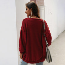 Load image into Gallery viewer, Women Button Long Puff Sleeve Coat Knitwear Outwear Pocket Solid Color Loose