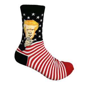 Mens Womens American Flag Trump Printed Socks