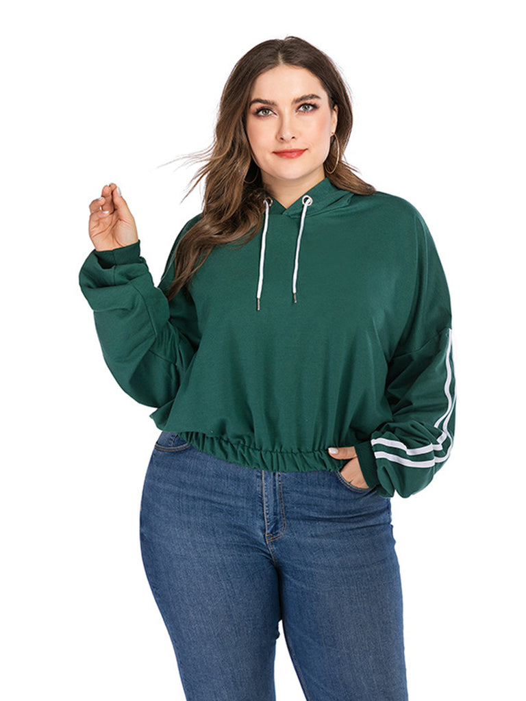 Women's Casual Loose Hooded Hoodie Tops Long Sleeve Sweatshirt Plus Size
