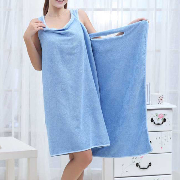 1pc Solid Bath Towel Dress - PRÉVENTE