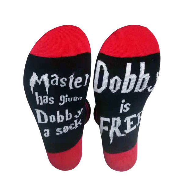 Mens Womens MASTER has given Dobby a Letter Socks