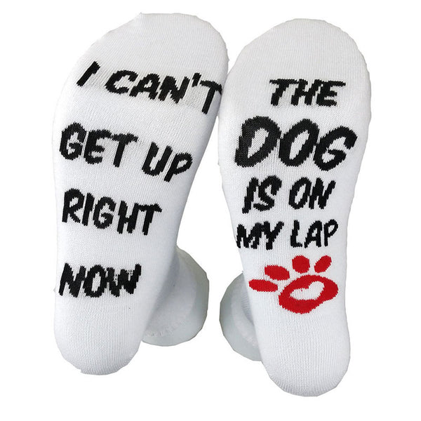 Unisex I CAN'T GET UP RIGHT NOW THE DOG IS ON MY LAP Socks
