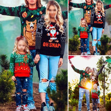 Load image into Gallery viewer, Parent-Child Straight Type Printed Round Collar Christmas Sweater