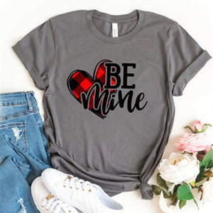 BE Mine Letter Print Casual Short Sleeve T-Shirt