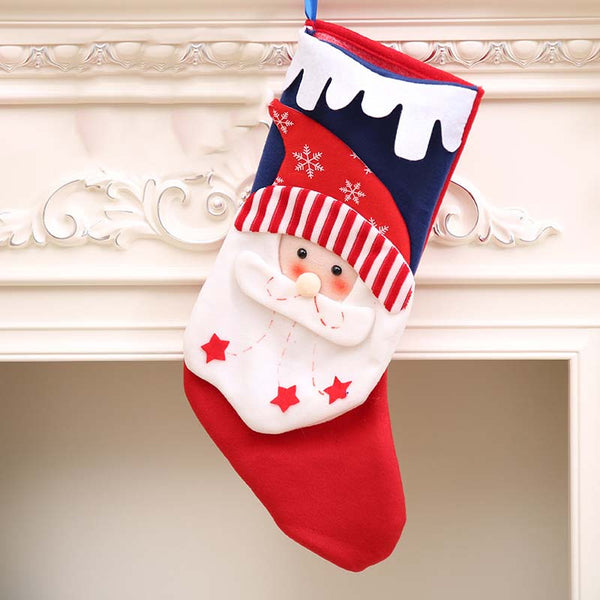 Christmas Stocking Christmas Tree Pendant Kid's Gift Bag DIY Home Decor Ornament