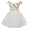 GK Children Kids Girls Cap Sleeve Crew Neck Tulle Netting Princess Dress