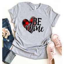 Load image into Gallery viewer, BE Mine Letter Print Casual Short Sleeve T-Shirt