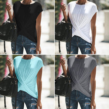 Load image into Gallery viewer, New Casual Short Sleeve Solid Color Large Size T-shirt