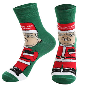 Jacquard Socks In Trump's Christmas Personality