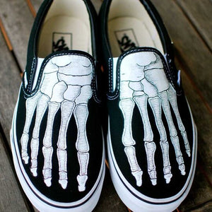 Unsex Halloween Skeleton Hand Canvas