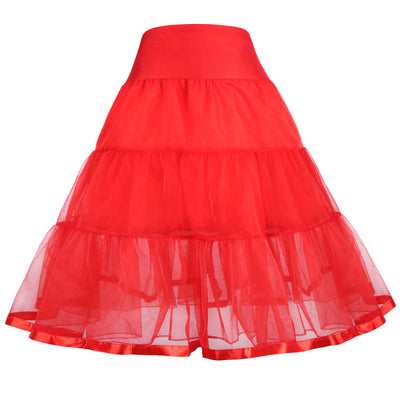 Girl's Two Layers Voile Tiered Crinoline Underskirt Petticoat - 1