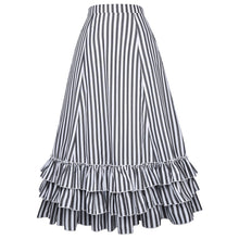 Load image into Gallery viewer, MOONAR Women's Vintage Stripes Gothic Victorian Skirt
