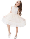 Two Layers Sleeveless Bridesmaid Wedding Party Flower Girl's Dress