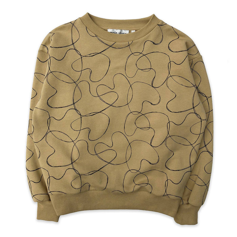 Croissant Abstract Hearts Balloon Sweatshirt