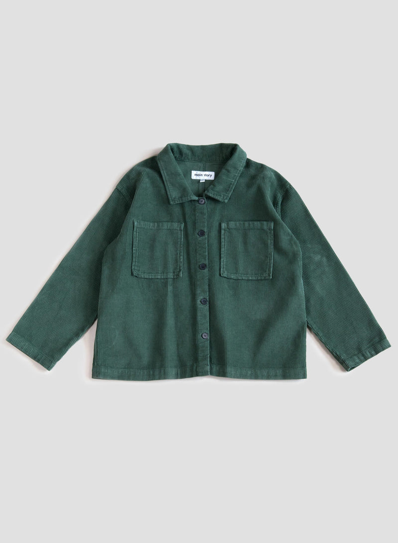 Duck Green Cord Overshirt