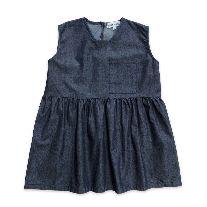 Dark Blue Denim Wide Dress