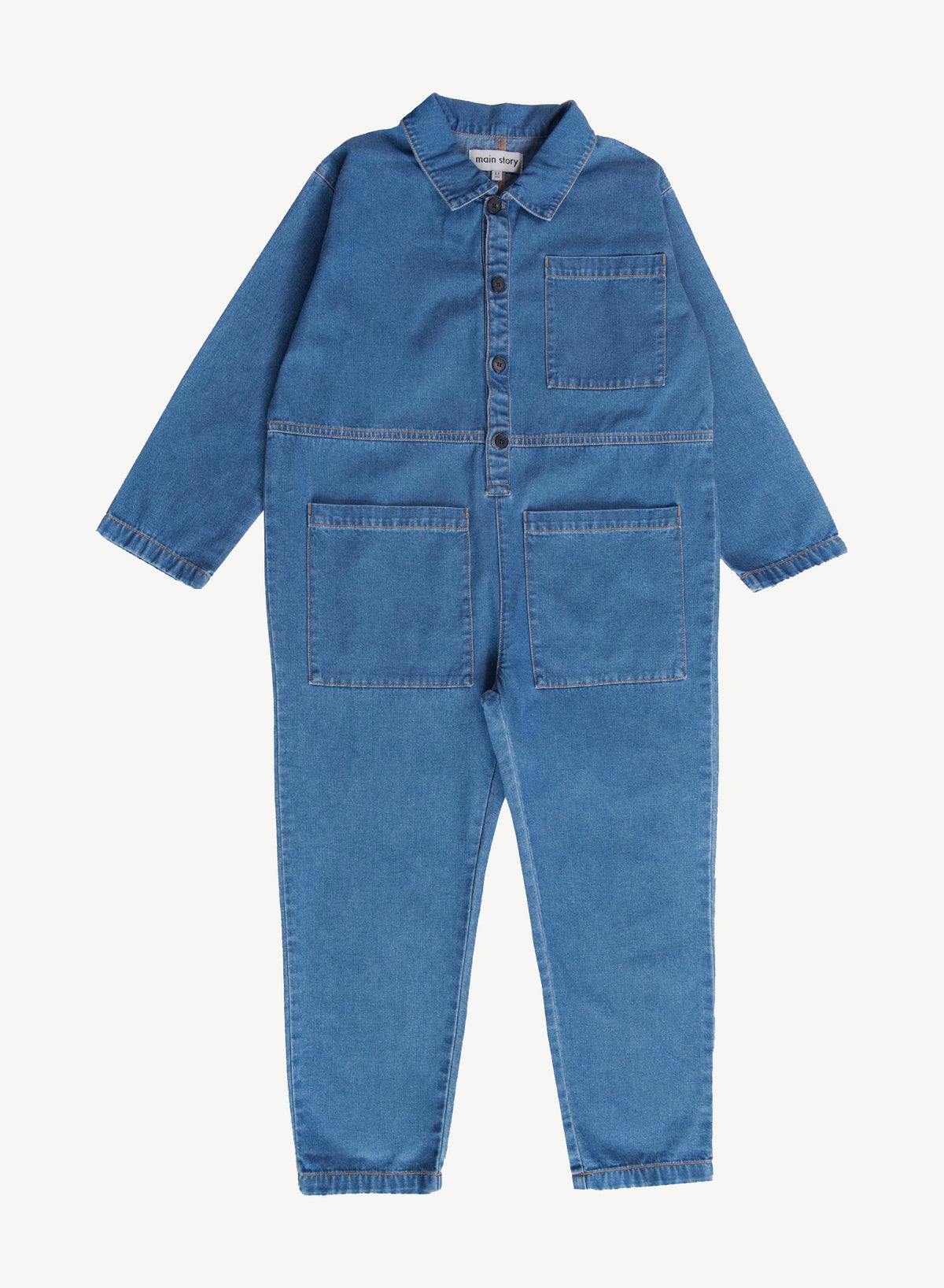 Mid Blue Denim Jumpsuit