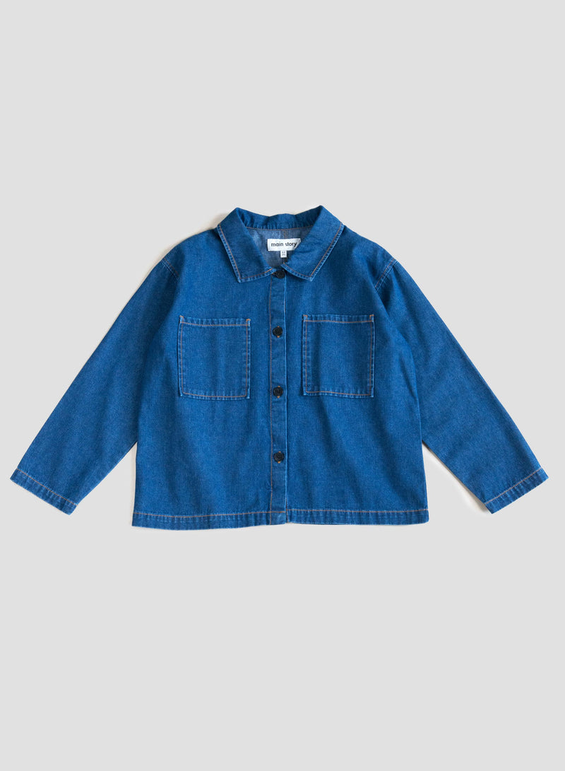 Mid Blue Denim Overshirt