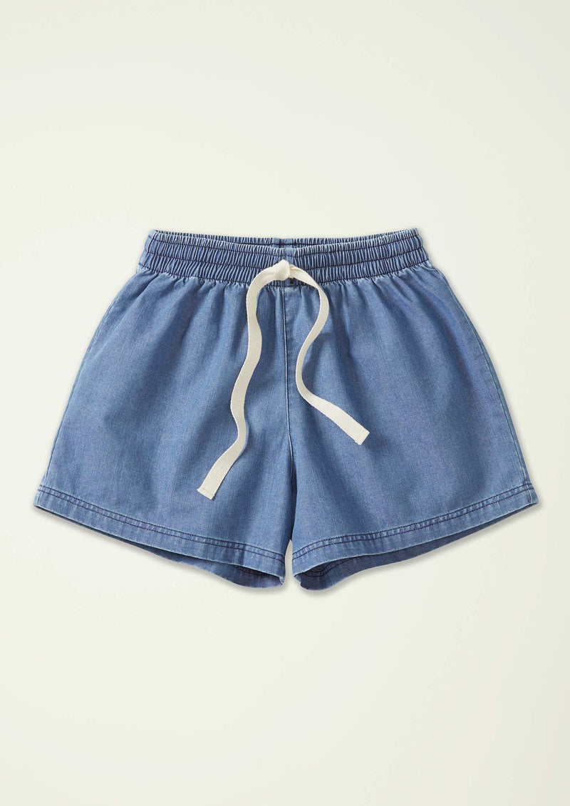 Denim Track Short