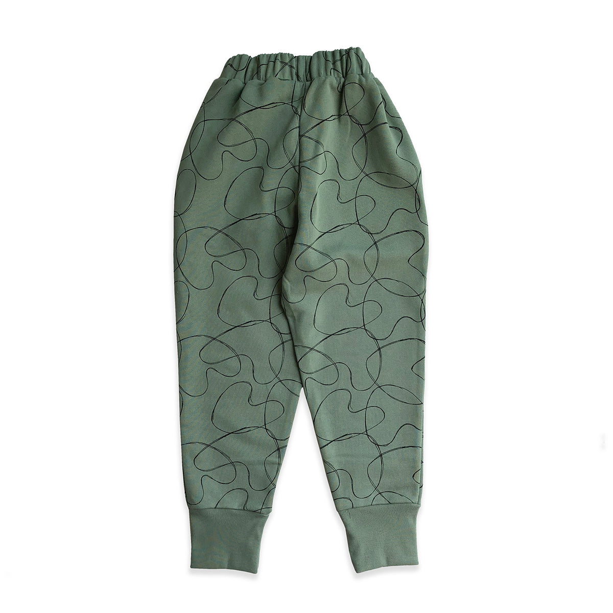 Green Abstract Hearts Sweatpant