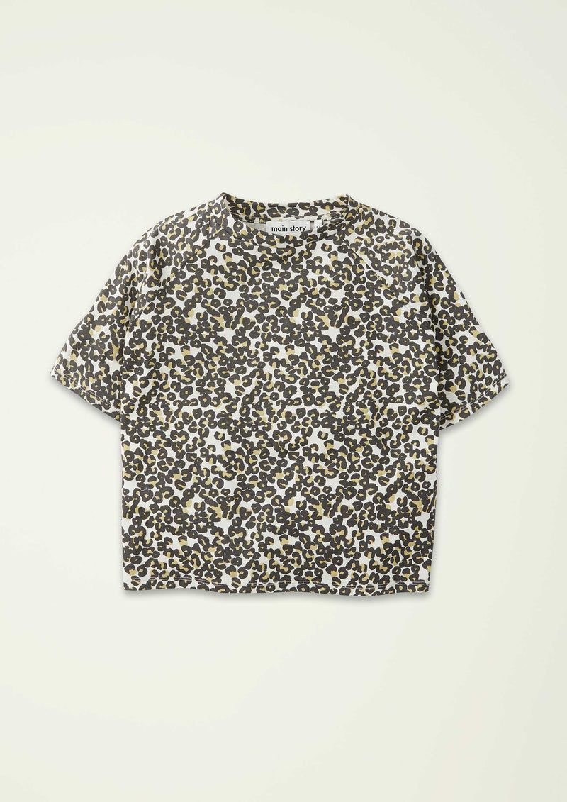 Leopard Over-sized Tee