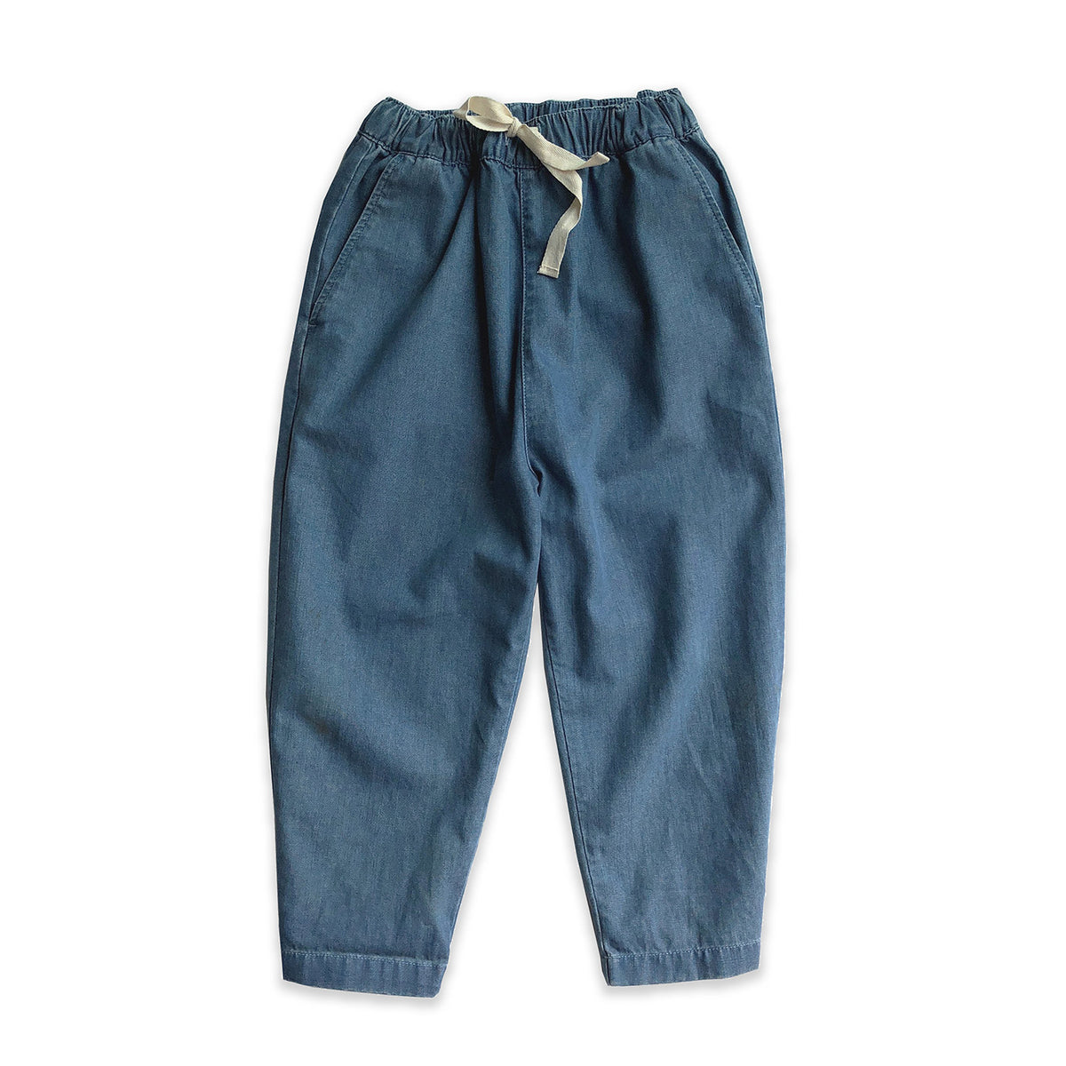 Mid Blue Denim Relaxed Trouser