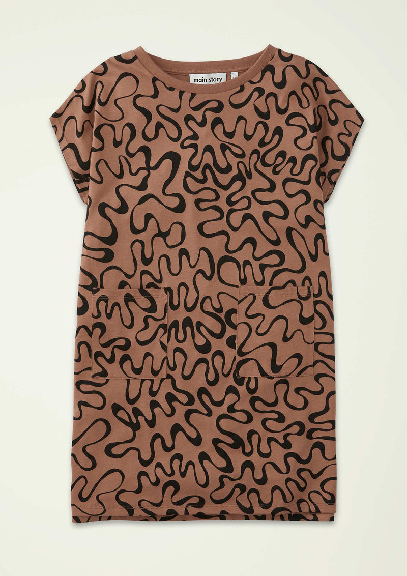 Squiggle Summer Tee Dress