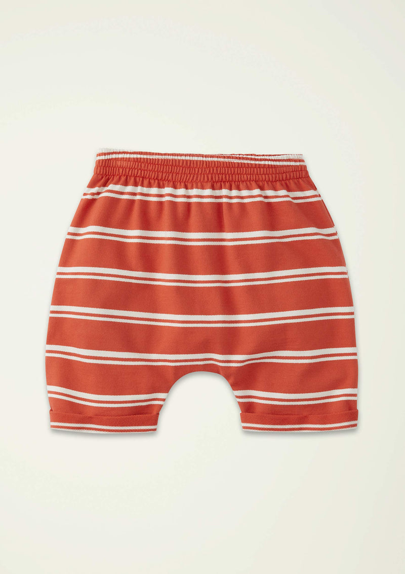 Red Stripe Sweat Short