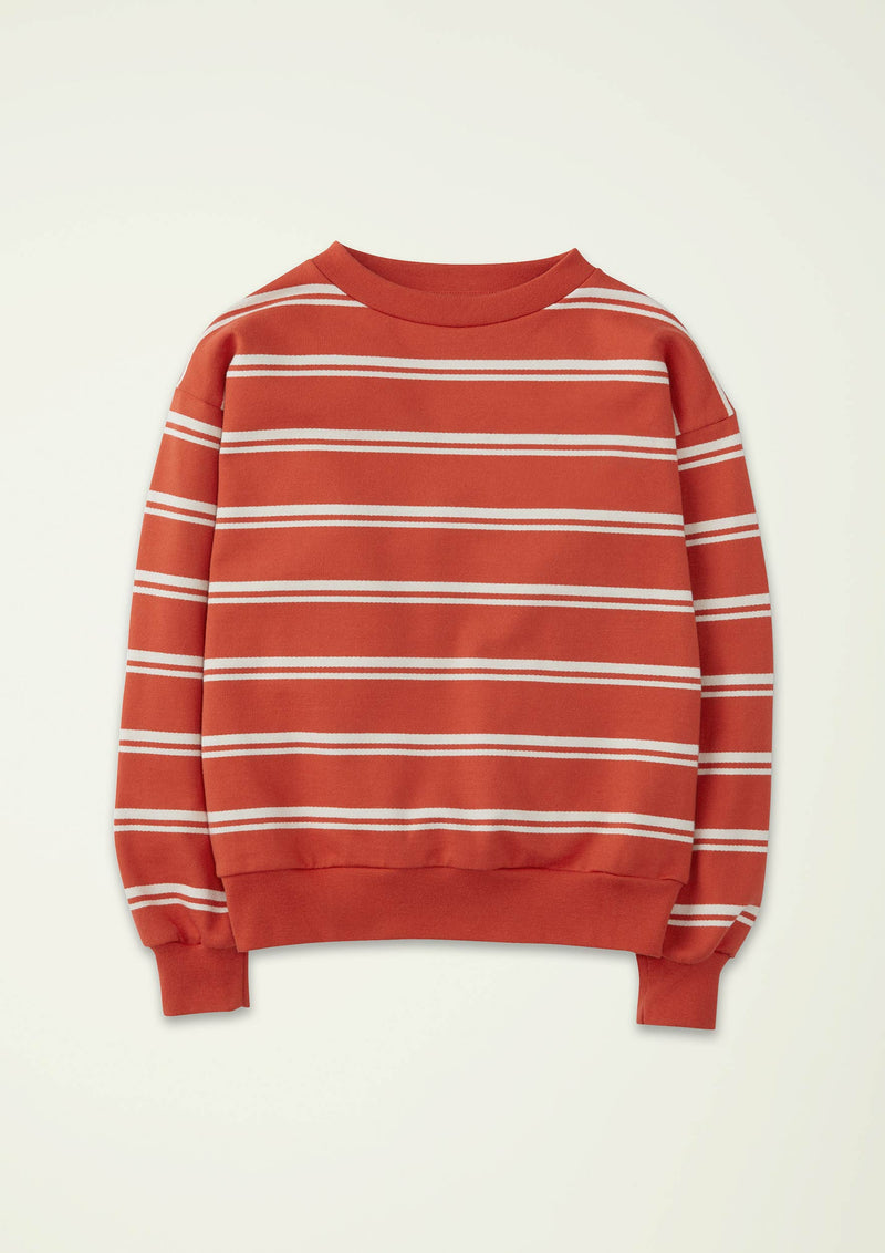 Red Stripe Sweatshirt