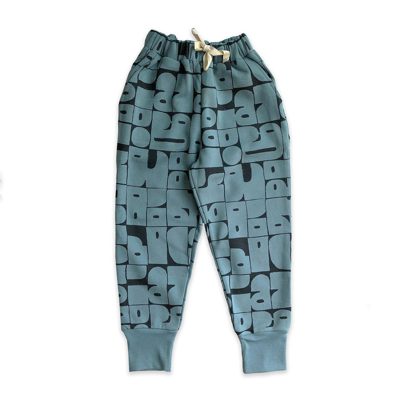 Stone Blue Shapes Sweatpant
