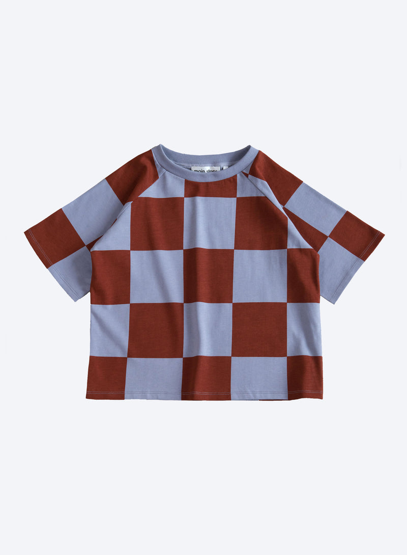Oversized Tee Steel Check