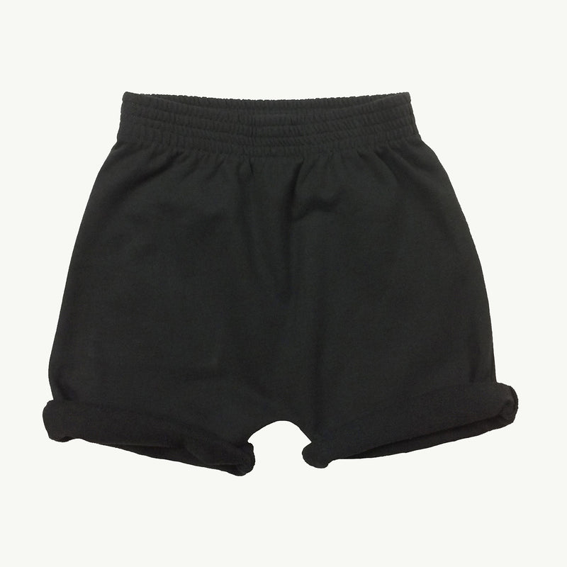 Washed-Black Sweatshort