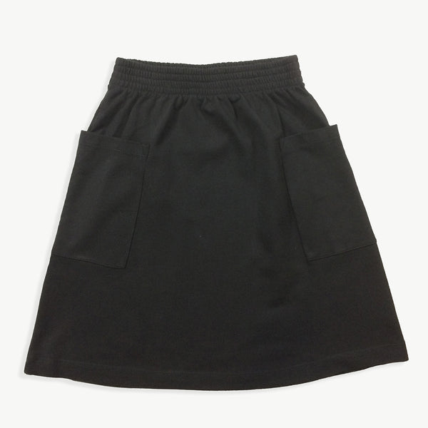 Washed-Black Sweat Skirt