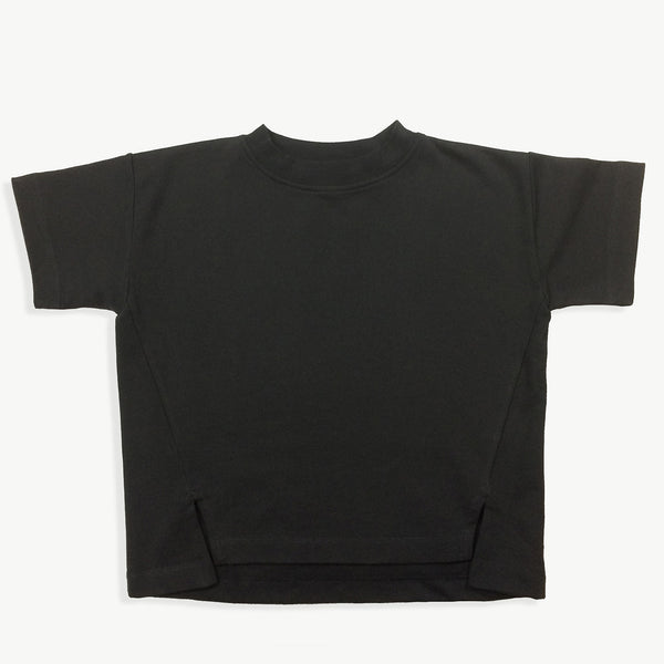 Washed-Black Sweat Tee