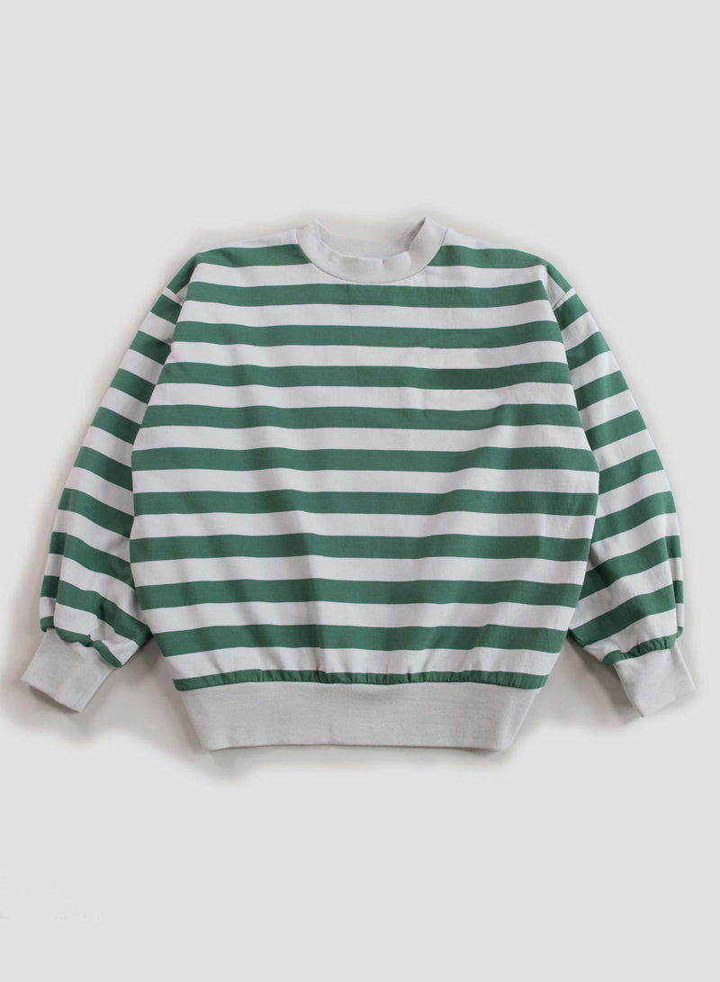 Stripe Balloon Sweatshirt